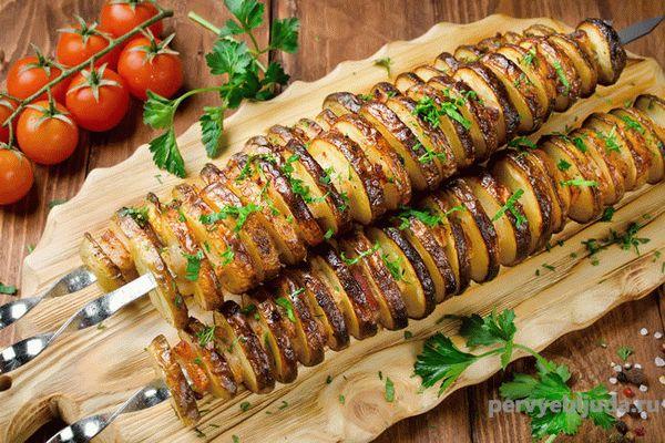 Рецепт картофеля на мангале