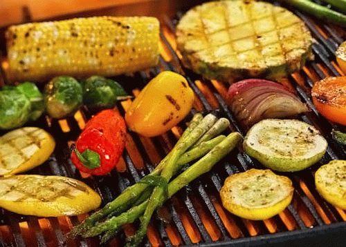 Как пожарить овощи на мангале