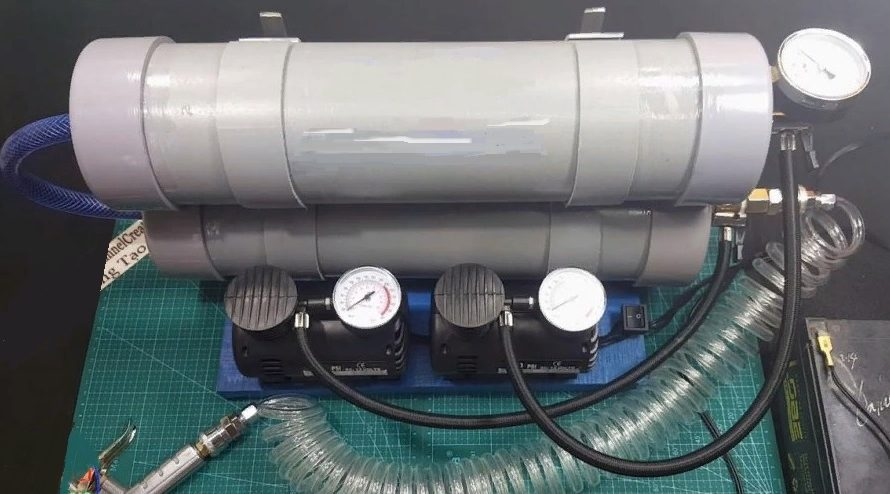 Самодельный компрессор из ПВХ-труб
