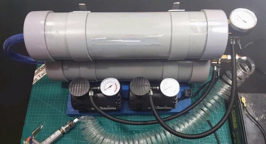 самодельный компрессор из пластиковых труб