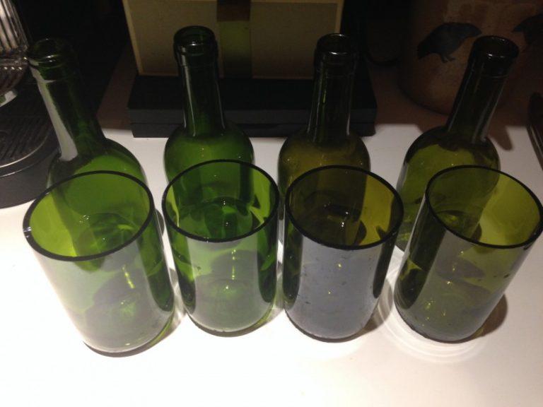 Разрезаем бутылку из стекла своими руками