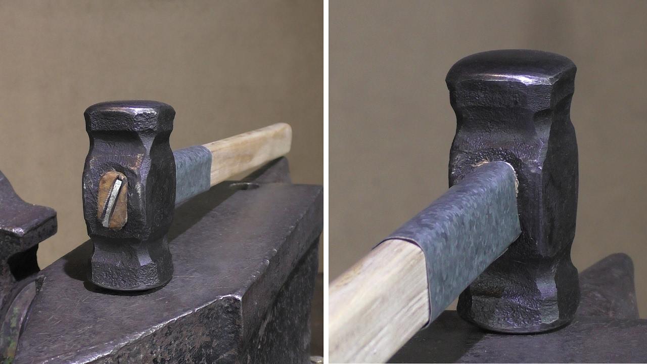 Как надежно закрепить молоток на рукояти своими руками