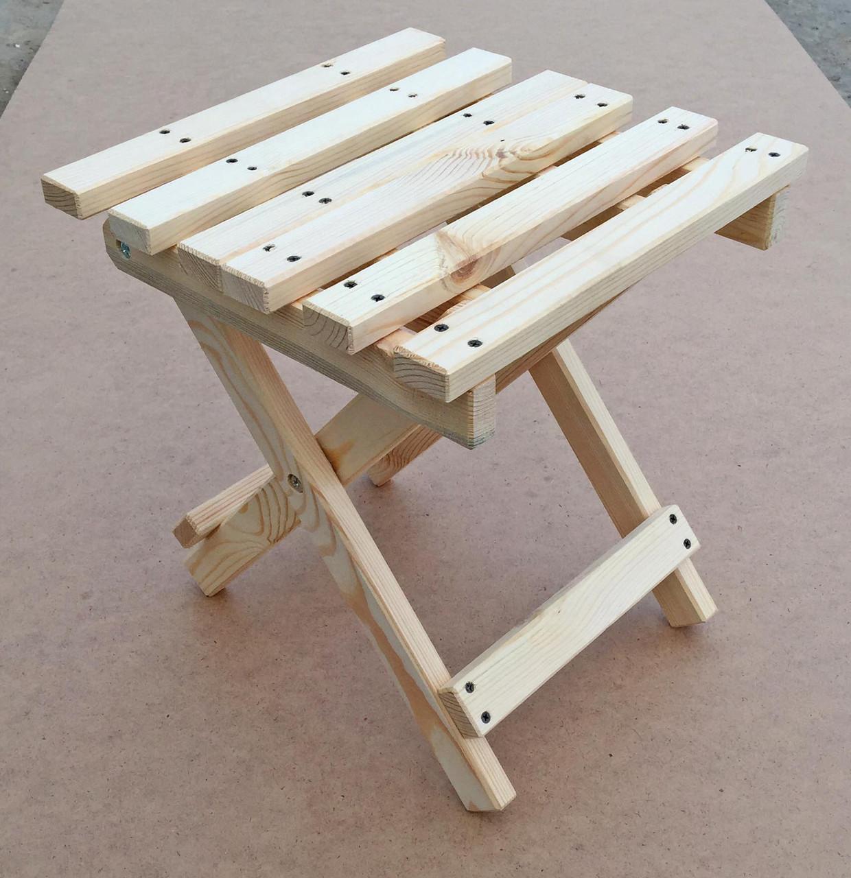 Самодельный складной стул для рыбака за 100 рублей