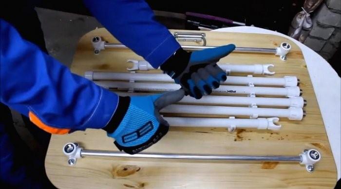 Раскладной стол из ПВХ труб своими руками