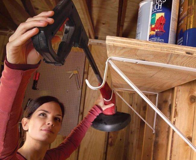 Оригинальное решение для хранения вещей в гараже: мастерим своими руками