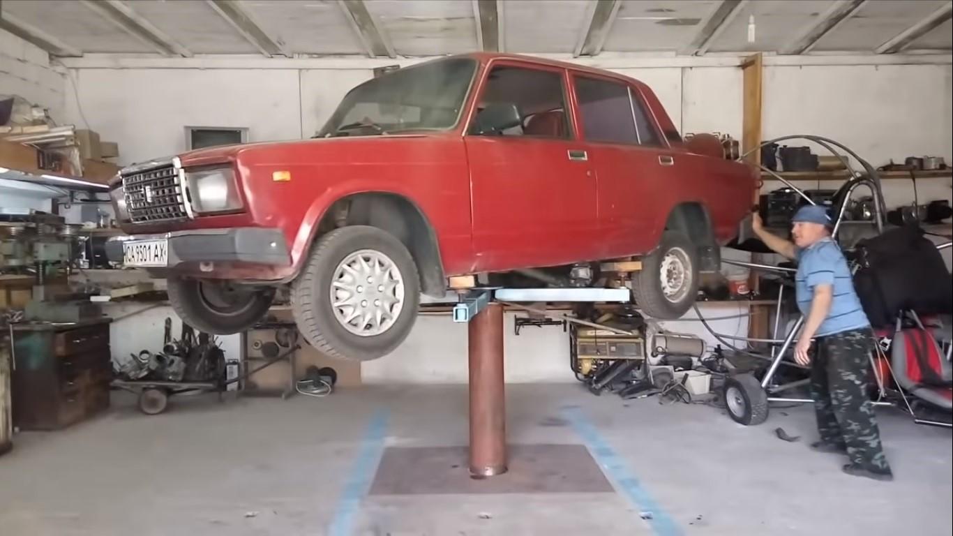 Автоподъемник для гаража своими руками