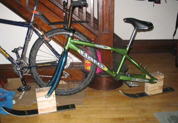 Велосипед-санки своими руками: оригинальное решение