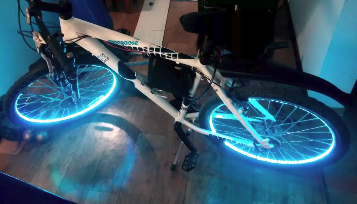 Подсветка колес велосипеда своими руками: оригинальное решение