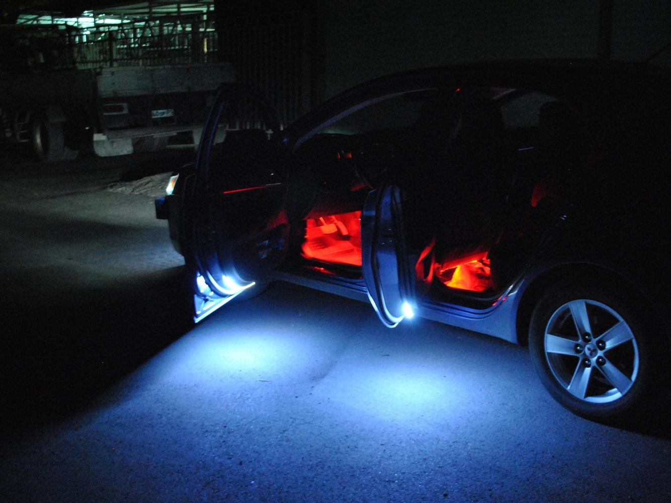 Подсветка для дверей автомобиля своими руками