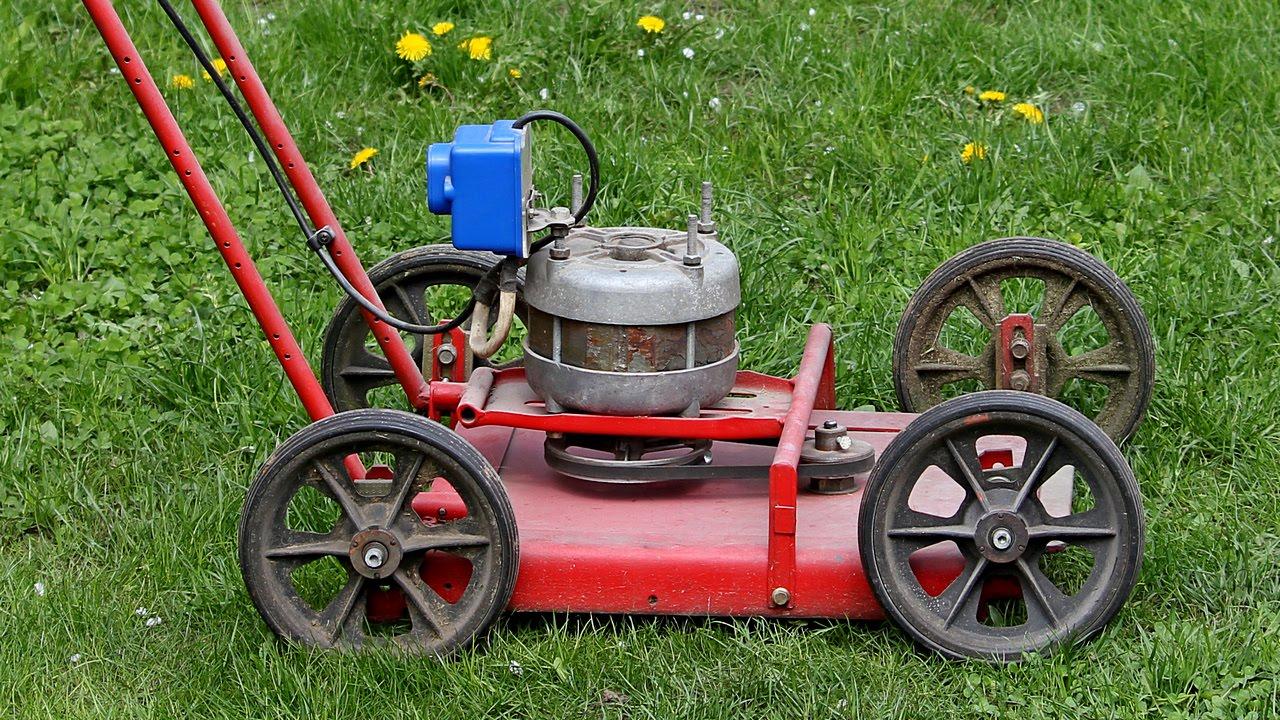 Газонокосилка своими руками: оригинальное решение для сада