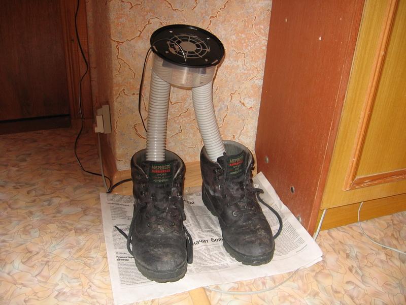 Сушилка для обуви своими руками: оригинальное решение