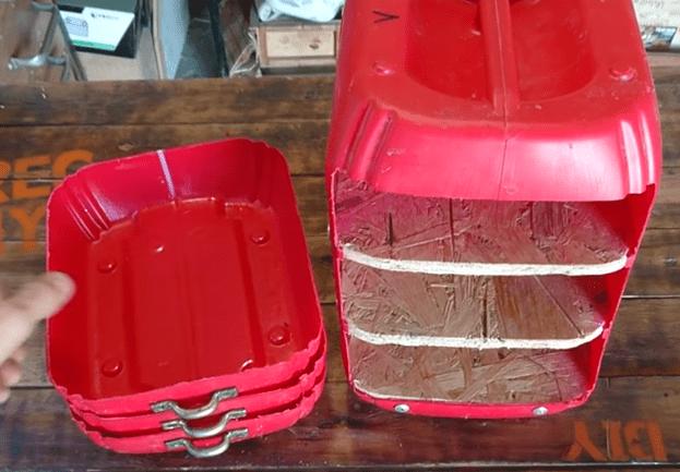 Ящик для инструментов из канистры – своими руками