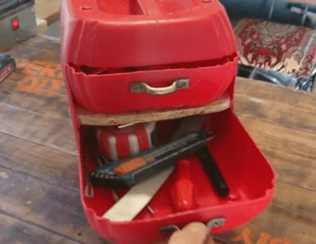 ящик для инструментов из канистры
