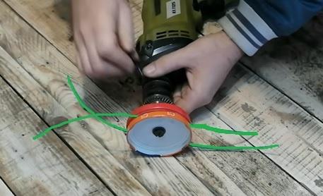 триммер насадка для дрели