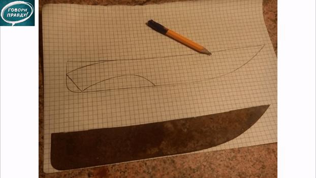 Самодельный нож из лопаты