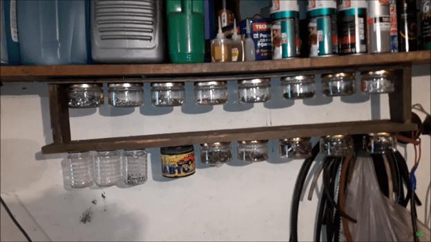 Органайзер для хранения мелочей в гараже