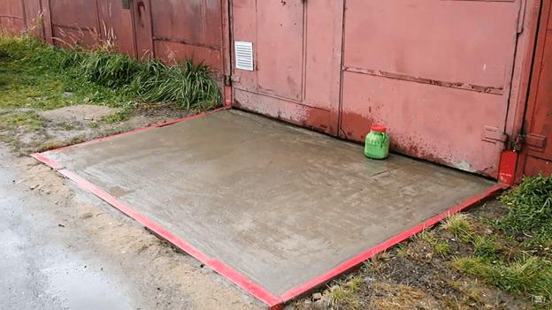 Бетонный заезд в гараж: делаем самостоятельно