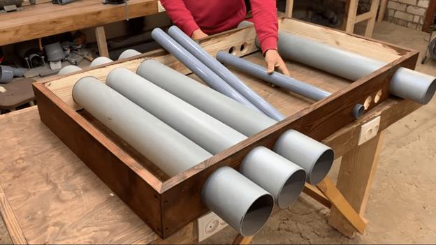 Светильник-органайзер в мастерскую: самоделка 2 в 1 из пластиковых труб