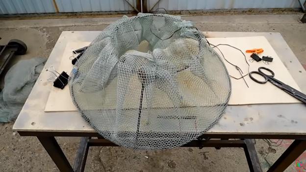 Самоделка для рыбалки: сетка для размещения рыбы