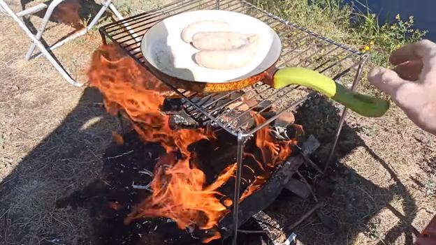 Удобная решетка для костра своими руками: готовим пищу на огне