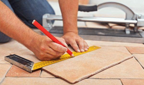 Как рассчитать плитку на пол