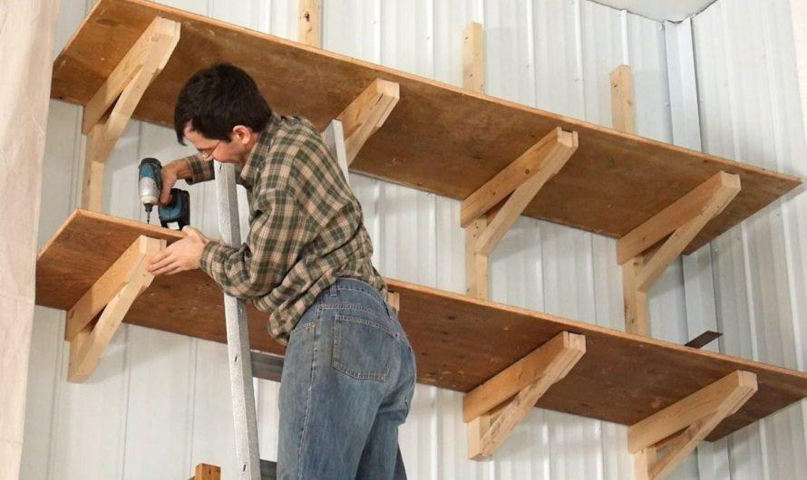 Удобные стеллажи для гаража своими руками: экономим место