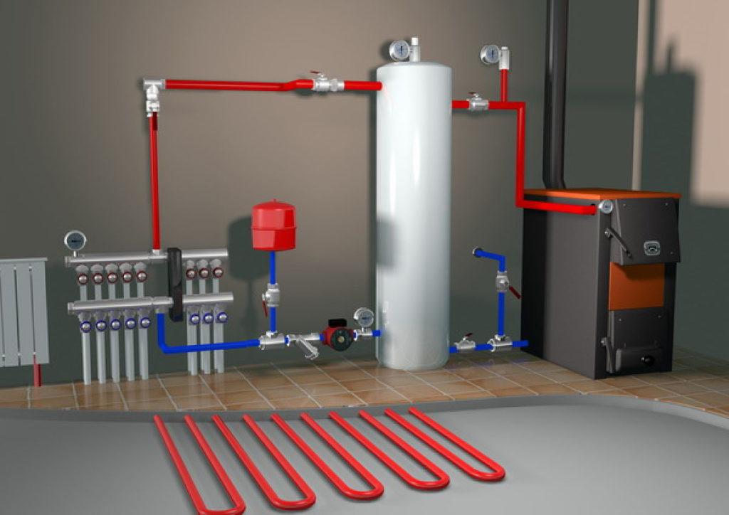 водяное отопление в гараже своими руками