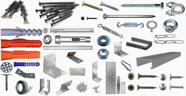 Разновидности крепежных изделий