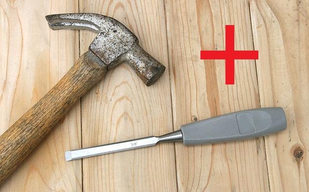 Молоток-Зубило для сварного шва: делаем из клапана автомобиля