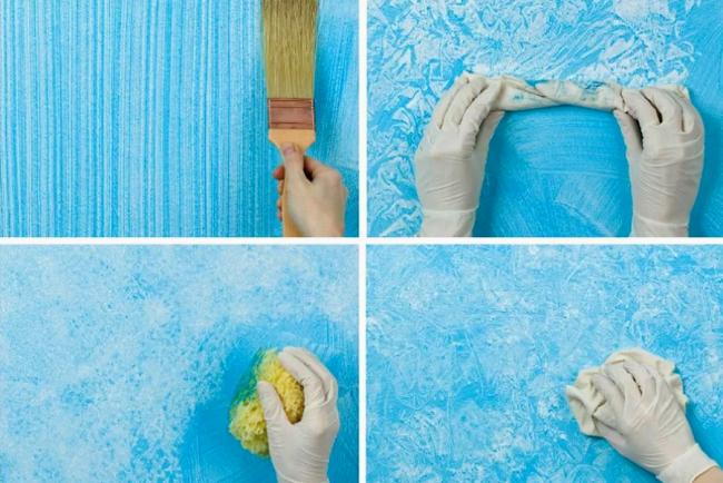 Идеи для покраски стен. Причёсанная поверхность