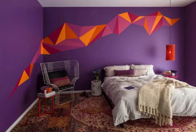 Идеи для покраски стен. Геометрические рисунки