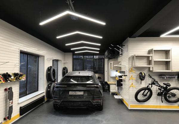 Удобный светильник для гаража из гофры для душа: делаем своими руками