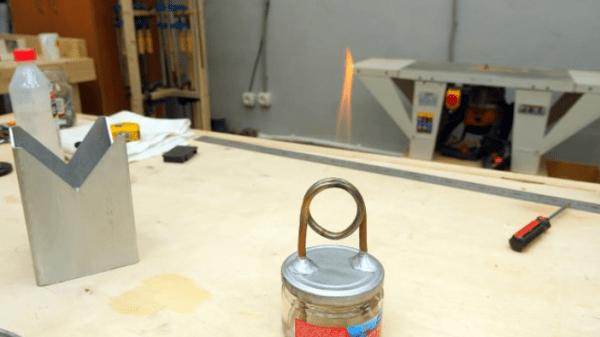 Как сделать простую спиртовую горелку с вечным фитилем