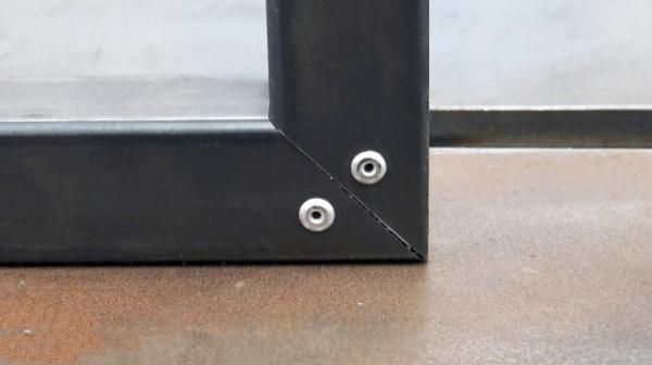 Делаем надежный аккуратный прямой угол на профильной трубе без сварки