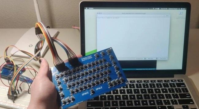 64-клавишная матричная клавиатура для работы с Arduino