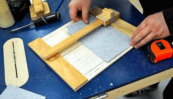 Как сделать резак для наждачной бумаги