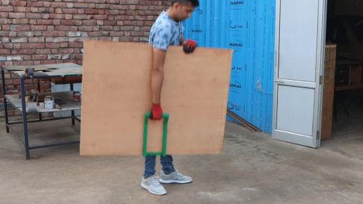 Инструмент для переноски крупногабаритного листового стройматериала