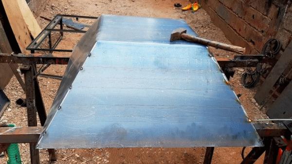 Как изготовить кузов для садовой тачки из цельного листа