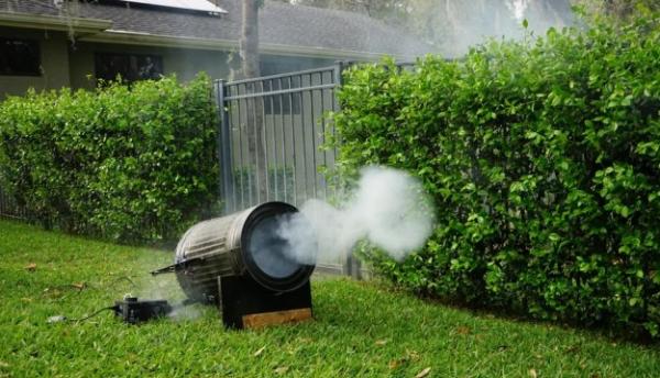 Воздушная пушка для запуска дымовых колец