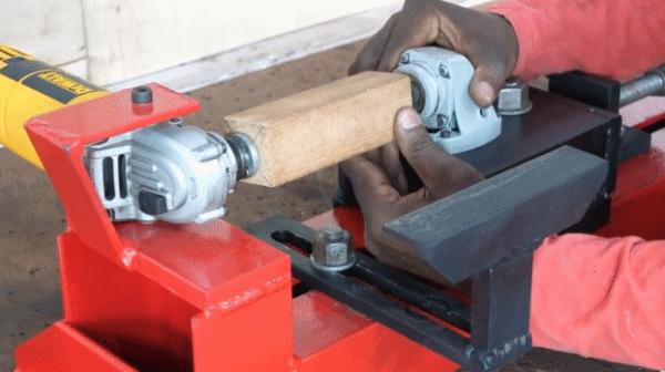 Как сделать токарный станок из болгарки