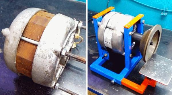 Как сделать заточной станок из двигателя старой стиралки