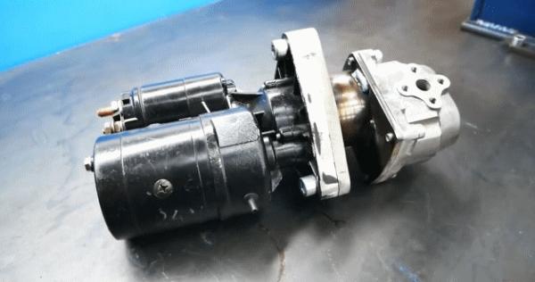 Электрический гидронасос из автомобильного стартера