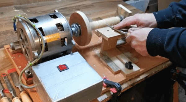 Мини-токарный станок из мотора от стиралки автомат