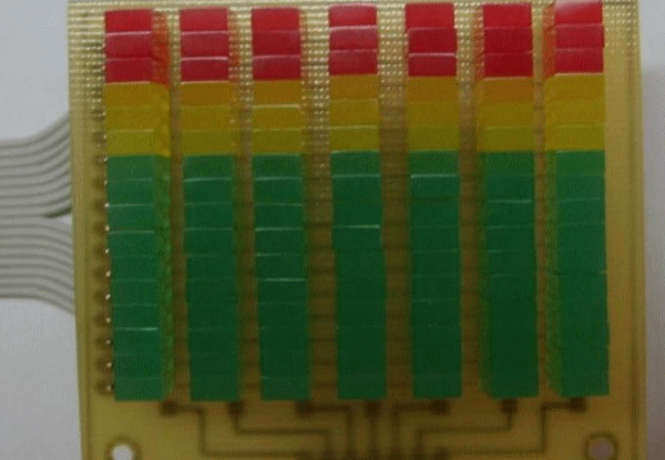 7-ми полосный спектроанализатор звука