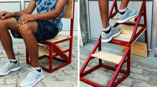 Стул-лестница для мастерской своими руками