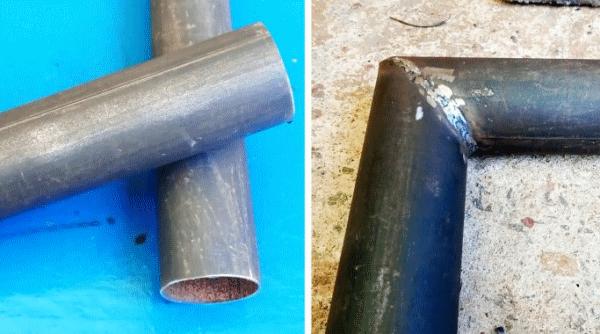 Сварка круглой трубы под прямым углом для новичка
