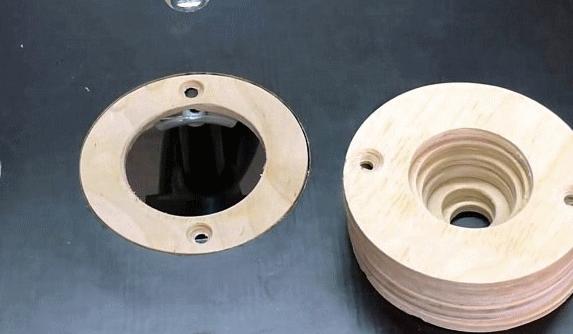 Делаем сменные вставные кольца для фрезерного стола