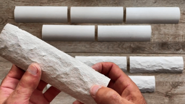 Мастер-класс по изготовлению декоративного кирпича с помощью потолочного плинтуса
