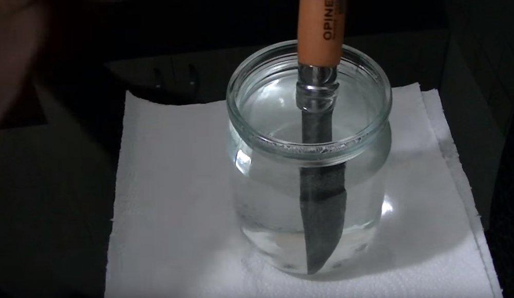 Воронение ножа: делаем сами в лимонной кислоте.