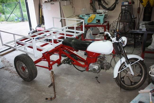 Самодельный трехколесный мотоцикл: грузовой вариант